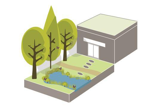 Illustration of green space