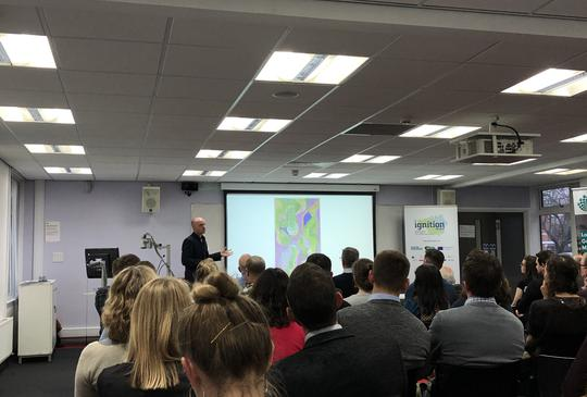Supplier presenting at UKGBC IGNITION event
