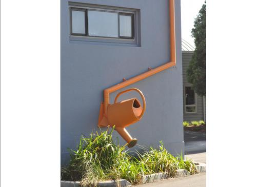 Watering can down pipe - All Saints Primary Atkins Global